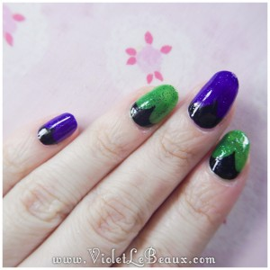 10 how to maleficent nail art 300x300 Tutorials