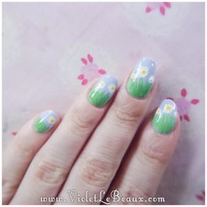08 how to spring daisy nail art 300x300 Tutorials