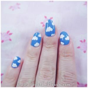 08 how to sky cloud nail art 300x300 Tutorials