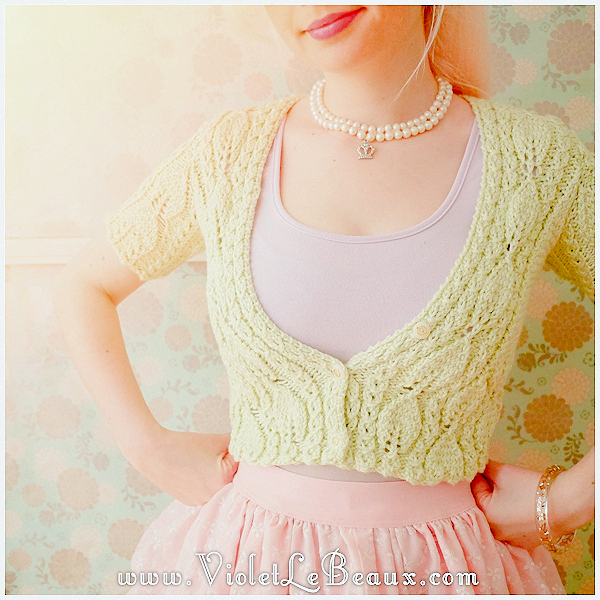 014-Green-Knitted-Cardigan